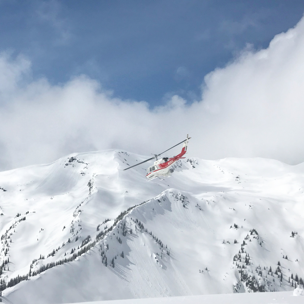 Heli-Skiing in April at CMH