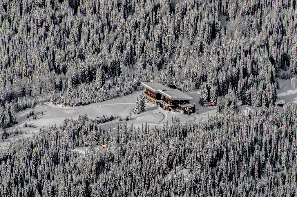 Aerial view of CMH lodge